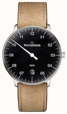 MeisterSinger Mens Form And Style Neo Automatic Black NE902N
