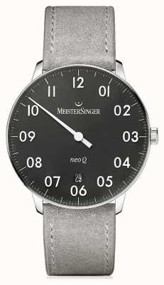 MeisterSinger Mens Form And Style Neo Q Quarz Black NQ902N