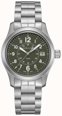 Hamilton Mens  Khaki Field Quartz Steel H68201163