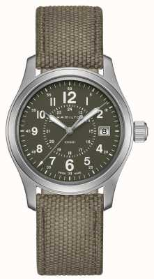 Hamilton Mens Khaki Field Quartz Canvas H68201963