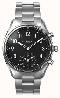 Kronaby 43mm APEX Bluetooth Stainless Steel Black Dial Smartwatch A1000-1426