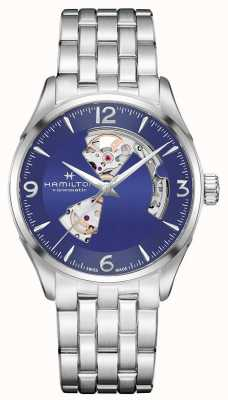 Hamilton Mens Jazzmaster Open Heart Automatic Blue Dial H32705141
