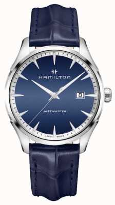 Hamilton Mens Jazzmaster Quartz Blue Leather H32451641