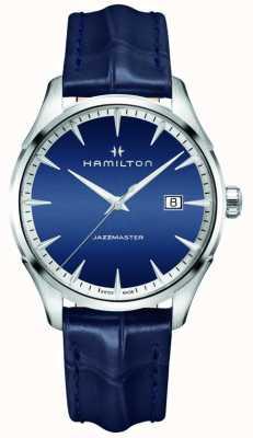 Hamilton Mens Jazzmaster Quartz Blue Leather H32451641