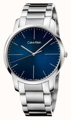 Calvin Klein Mens City Stainless Steel Bracelet Blue Dial K2G2G1ZN