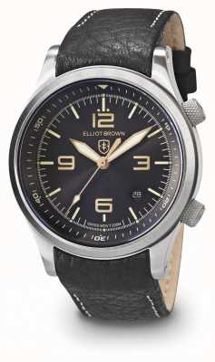 Elliot Brown Mens Canford Black And Gold Stainless Steel 202-021-L17