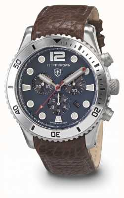 Elliot Brown Mens Bloxworth Black And Grey Oiled Leather Strap 929-015-L16