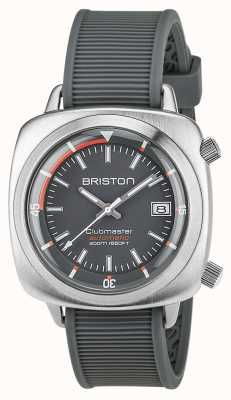 Briston Unisex Clubmaster Diver Brushed Steel Auto Grey 17642.S.D.17.RG