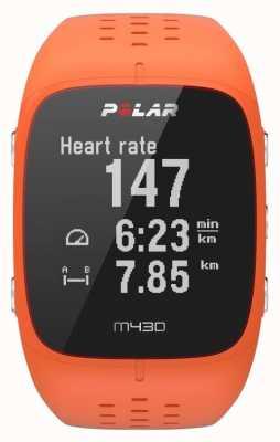 Polar M430 Orange Rubber Sports Watch 90064410