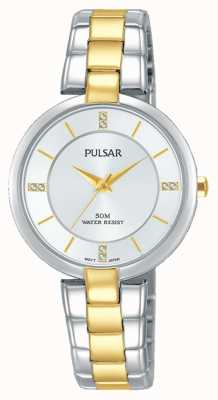 Pulsar Womans Attitude Two Tone Stainless Steel Silver Dial PH8314X1