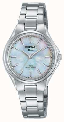 Pulsar Womans Stainless Steel Bracelet Mother Of Pearl Dial PY5031X1