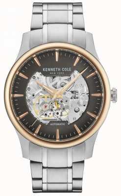 Kenneth Cole Men's Automatic Skeleton Dial Stainless Steel Bracelet KC15110001