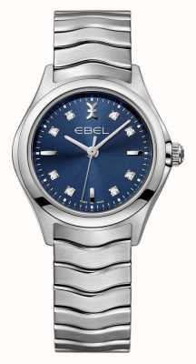 EBEL Wave Womens Blue Dial stainless steel Watch 1216315