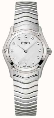 EBEL Classic Womens Diamond Set Stainless Steel Watch 1215421