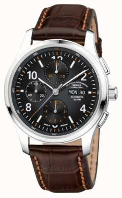 Muhle Glashutte Mens Lunova Chronograph Automatic Brown Leather M1-43-06-LB
