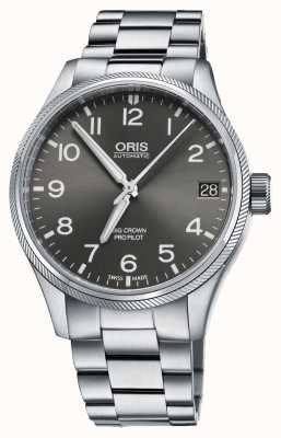 Oris Big Crown Propilot Date Stainless Steel Grey Dial 01 751 7697 4063-07 8 20 19