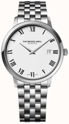 Raymond Weil Mens Toccata Stainless Steel Bracelet White Dial 5588-ST-00300