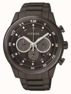 Citizen Mens Eco-drive Chronograph Black IP CA4035-57E