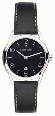 Michel Herbelin Womens Equinox Black Strap Watch 16977/14N