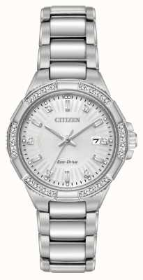 Citizen Riva Eco-Drive Stainless Steel Diamond Set EW2460-56A