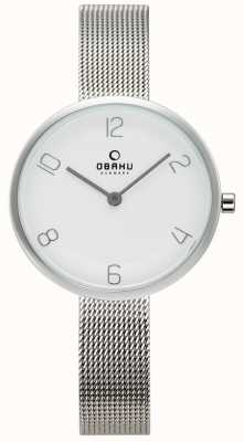 Obaku Womans Vand Steel Mesh Watch V195LXCIMC
