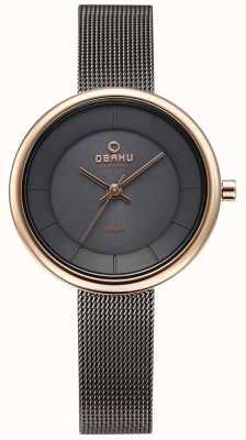Obaku Womans Lys Granite Mesh Bracelet Watch V206LRVJMJ