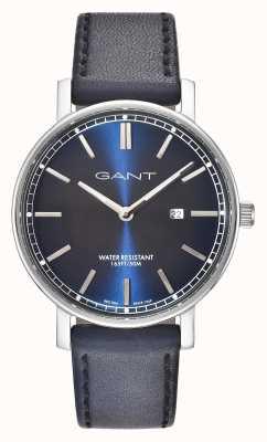 GANT Mens Nashville Blue Leather Strap Blue Dial GT006002