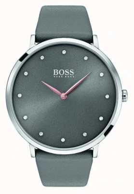 Hugo Boss Womans Jillian Watch Grey Leather 1502413