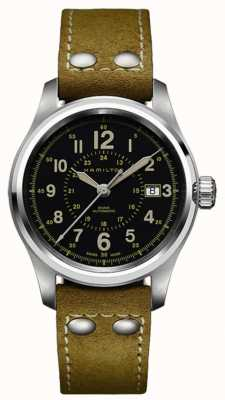 Hamilton Khaki Field Auto 40mm Beige Leather H70595593