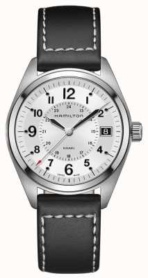 Hamilton Khaki Field Black Leather H68551753