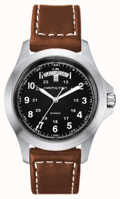 Hamilton Khaki Field King Quartz Brown Leather H64451533
