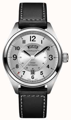 Hamilton Khaki Field Day-Date Auto Black Leather H70505753