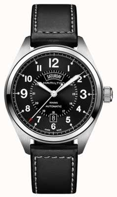 Hamilton Khaki Field Day-Date Auto Black Leather H70505733