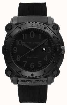 Hamilton Khaki Navy BeLOWZERO 1000m Auto Black Rubber H78585333