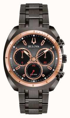Bulova Mens Sport Curv Black Ion-Plated Bracelet 98A158