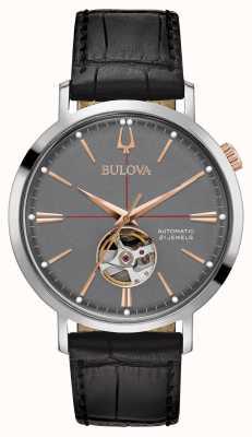 Bulova Mens Classic Automatic Grey 98A187