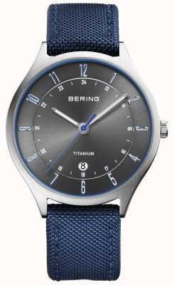 Bering Mens Ultra Light Titanium Nylon Blue 11739-873