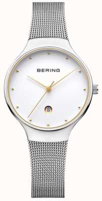 Bering Womans Classic Date Silver Milanese Strap 13326-001