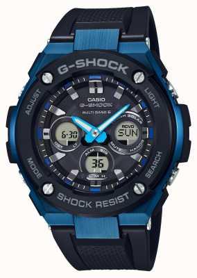 Casio Mens G-Shock G-Steel Tough Solar Watch Blue GST-W300G-1A2ER