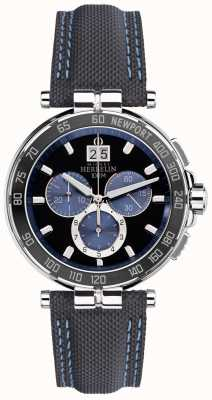 Michel Herbelin Mens Newport Yacht Club, Black, Blue 36656/AN65