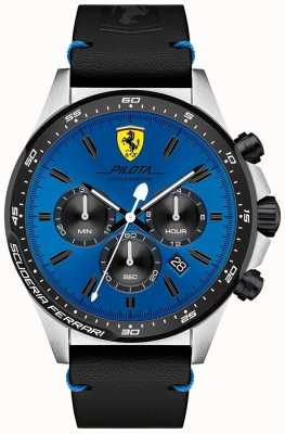 Scuderia Ferrari Men's Pilota Blue Chronograph Dial Watch 0830388