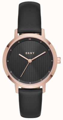 DKNY Womans Modernist Black Rose Gold NY2641