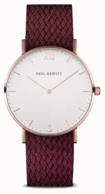 Paul Hewitt Unisex Sailor Berry Material Strap PH-SA-R-SM-W-19S