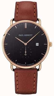Paul Hewitt Mens The Grand Atlantic Brown Leather Strap PH-TGA-G-B-1M