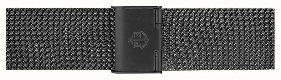 Paul Hewitt Black Stainless Steel Mesh Bracelet 176mm PH-M1-G-5S