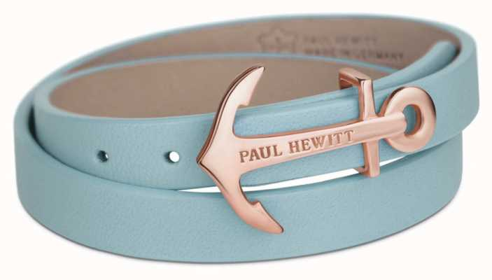 Paul Hewitt Jewellery Northbound Niagara Blue Leather Wrap Bracelet PH-WB-R-23S
