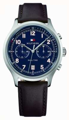 Tommy Hilfiger Mens Emerson Leather Strap Watch 1791385