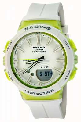 Casio Womens Baby-G Step Tracker Green/white Watch BGS-100-7A2ER