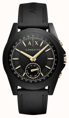 Armani Exchange Mens Connected Hybrid Smartwatch In Black AXT1004