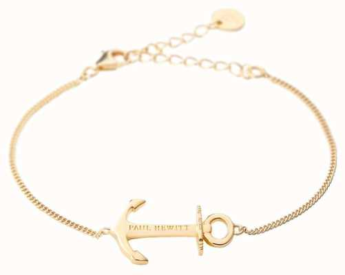 Paul Hewitt Jewellery Anchor Spirit Gold Bracelet PH-AB-G